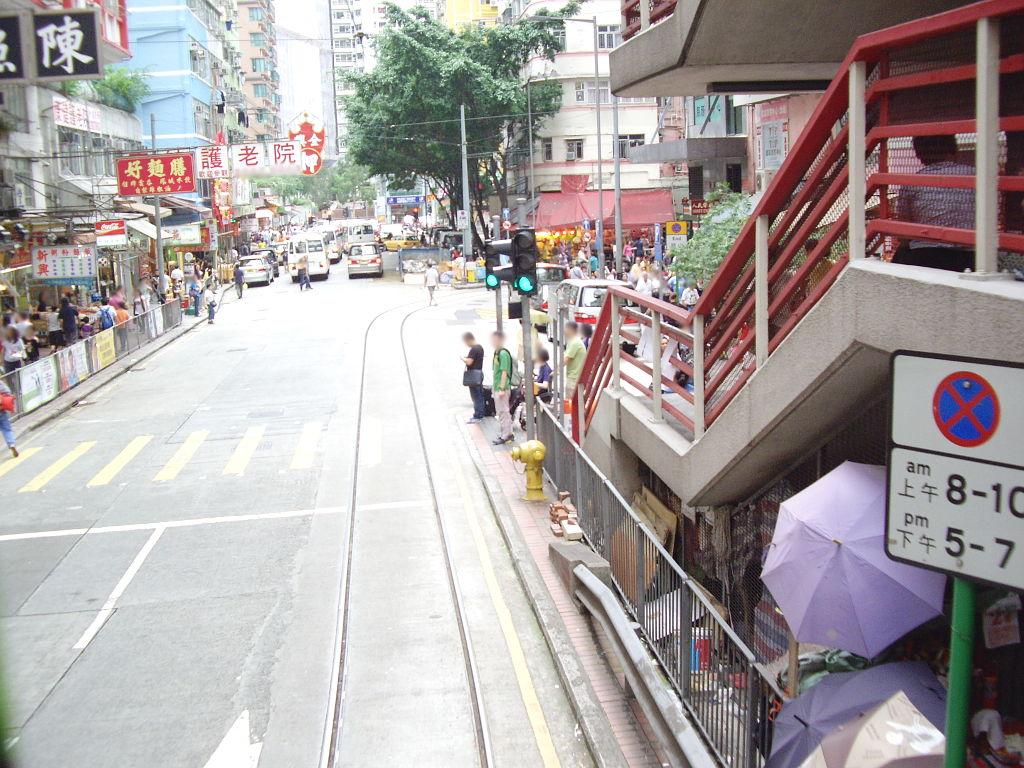 香港・小心地滑友の会 その2・春秧街の二階建てトラム2007夏-0206