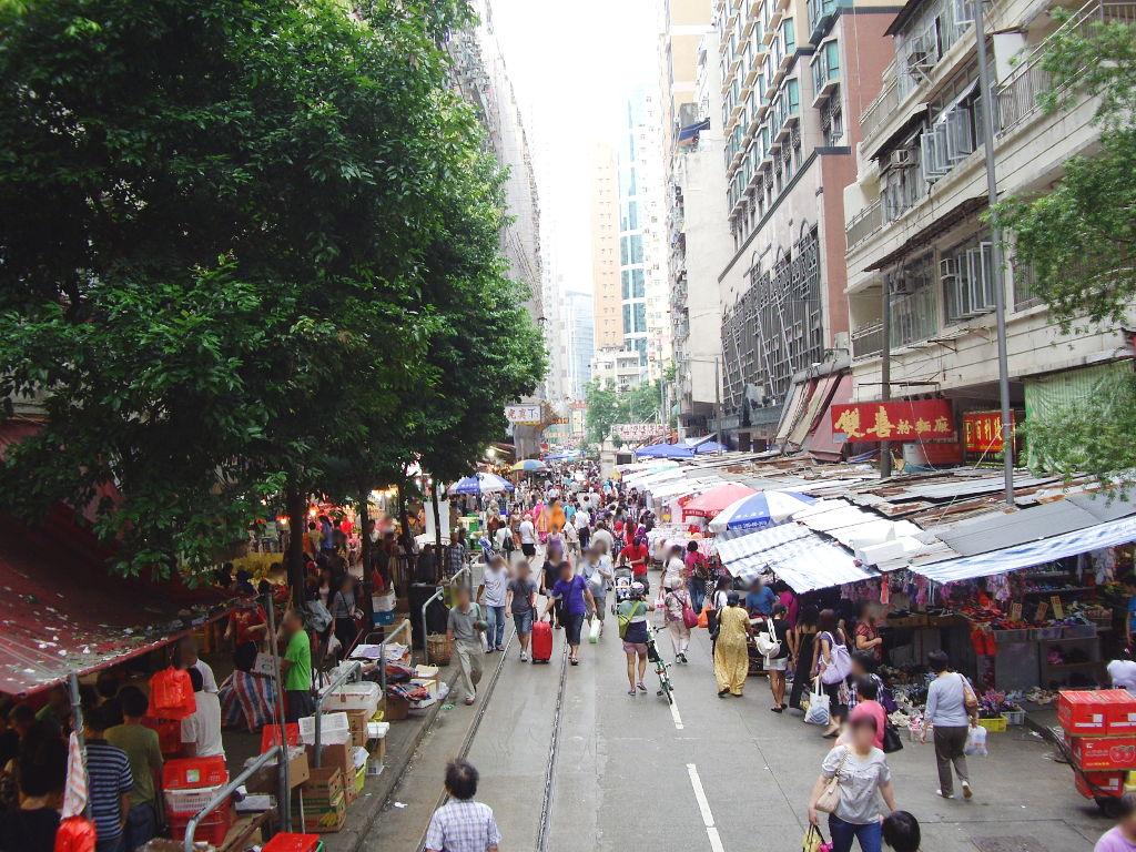 香港・小心地滑友の会 その2・春秧街の二階建てトラム2007夏-0212