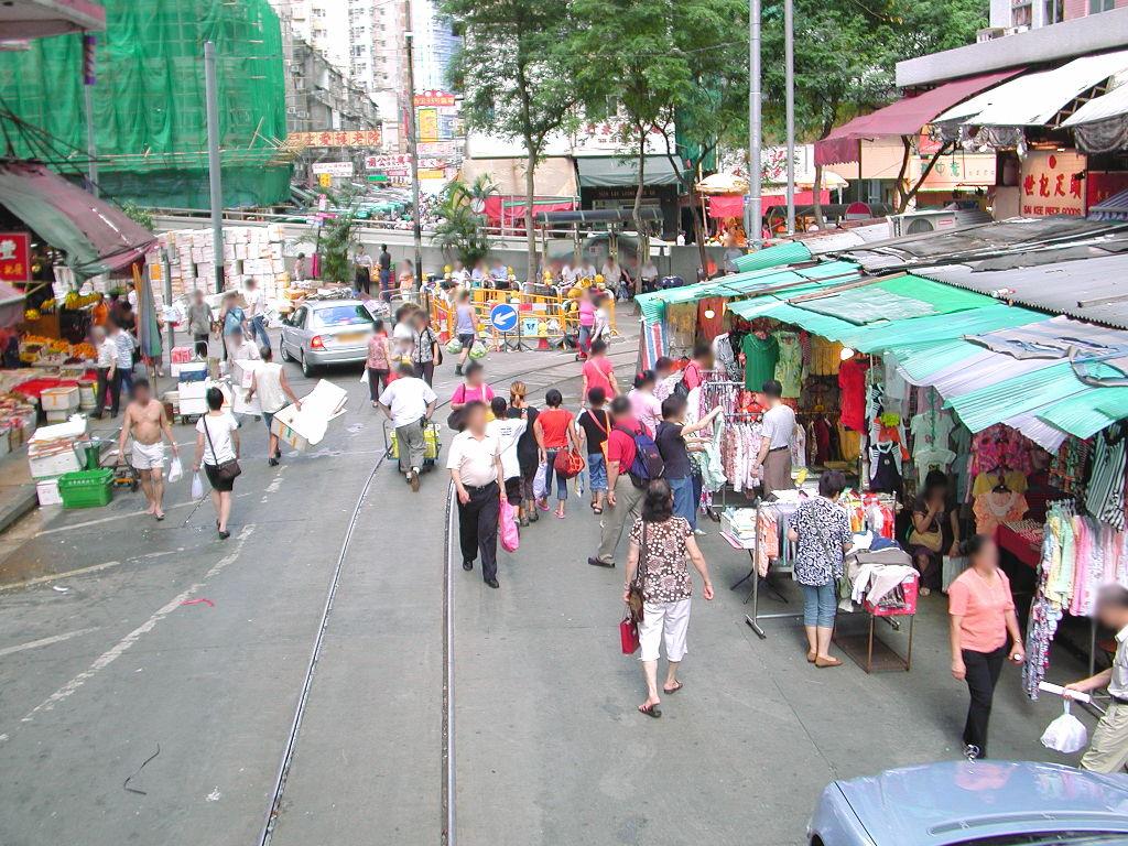 香港・小心地滑友の会 その2・春秧街の二階建てトラム2007夏-0221