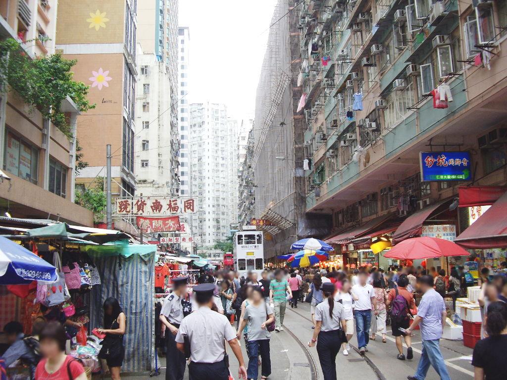 香港・小心地滑友の会 その2・春秧街の二階建てトラム2007夏-0224