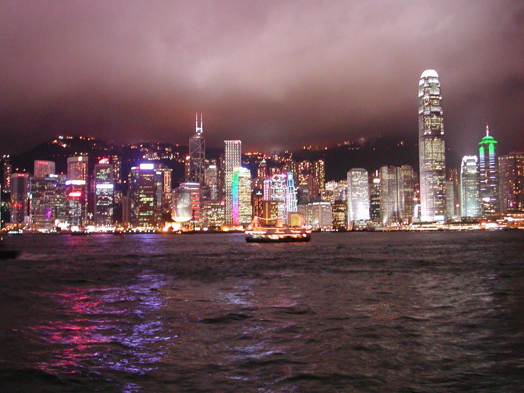 香港・小心地滑友の会 その3・ピークトラム(山頂)と夜景2008秋-0302