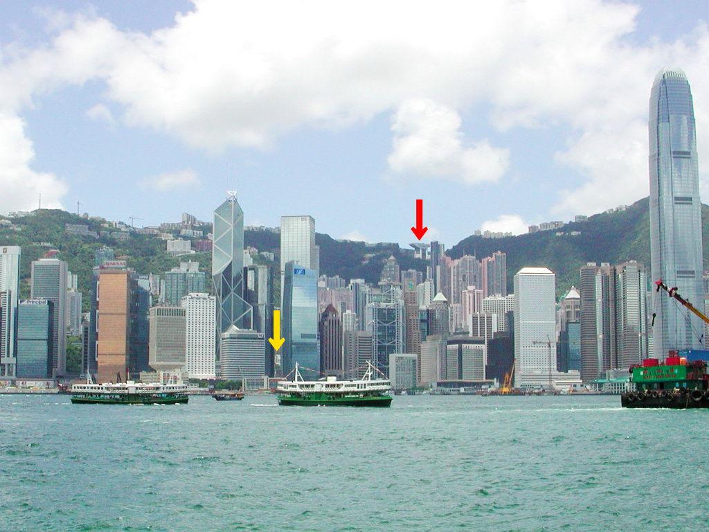 香港・小心地滑友の会 その3・ピークトラム(山頂)と夜景2008秋-0305