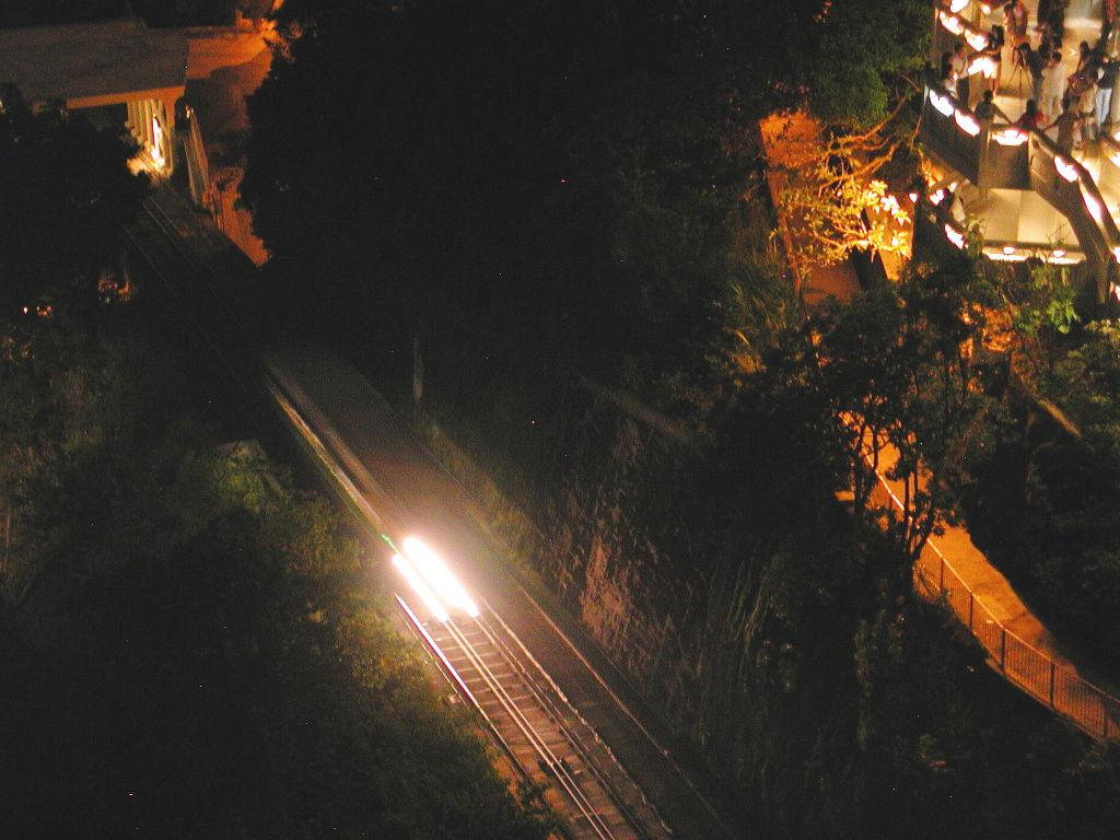 香港・小心地滑友の会 その3・ピークトラム(山頂)と夜景2008秋-0311