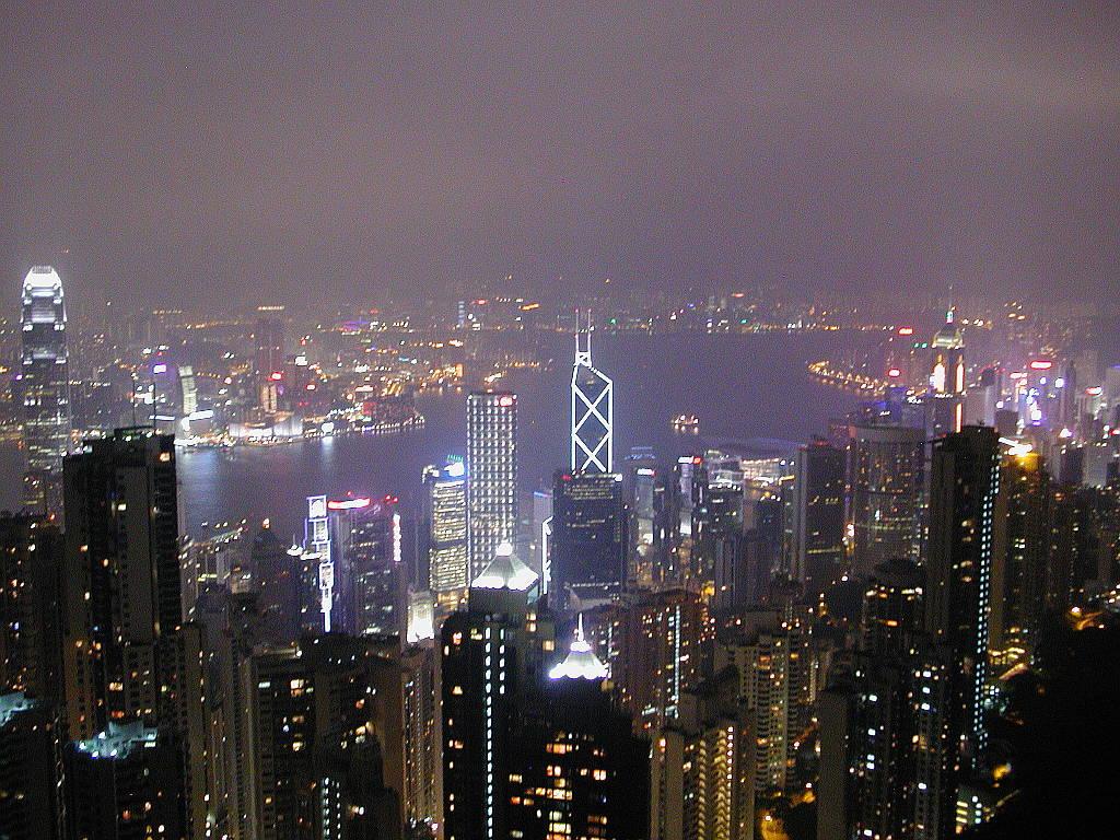 香港・小心地滑友の会 その3・ピークトラム(山頂)と夜景2008秋-0319