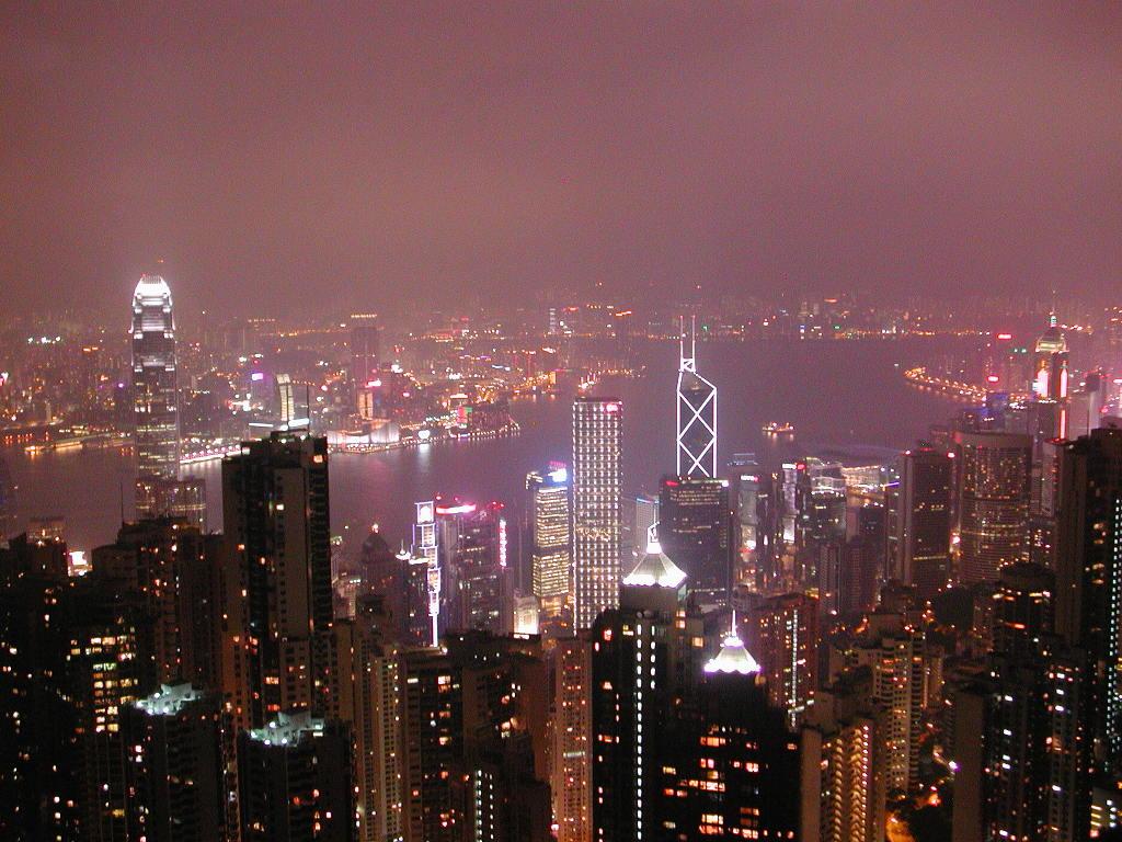 香港・小心地滑友の会 その3・ピークトラム(山頂)と夜景2008秋-0320