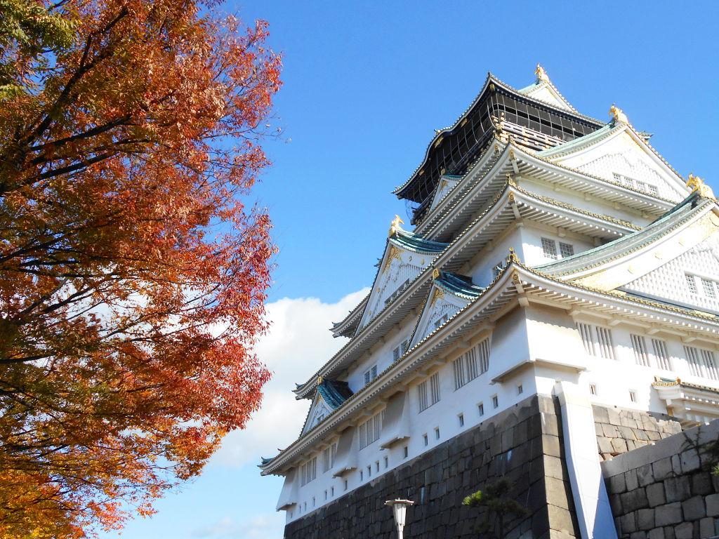 紅葉の大阪城2017秋-1106