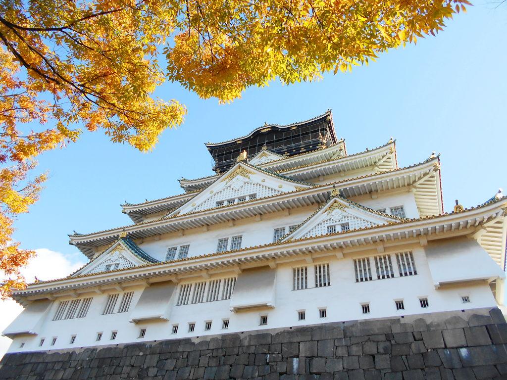 紅葉の大阪城2017秋-1107