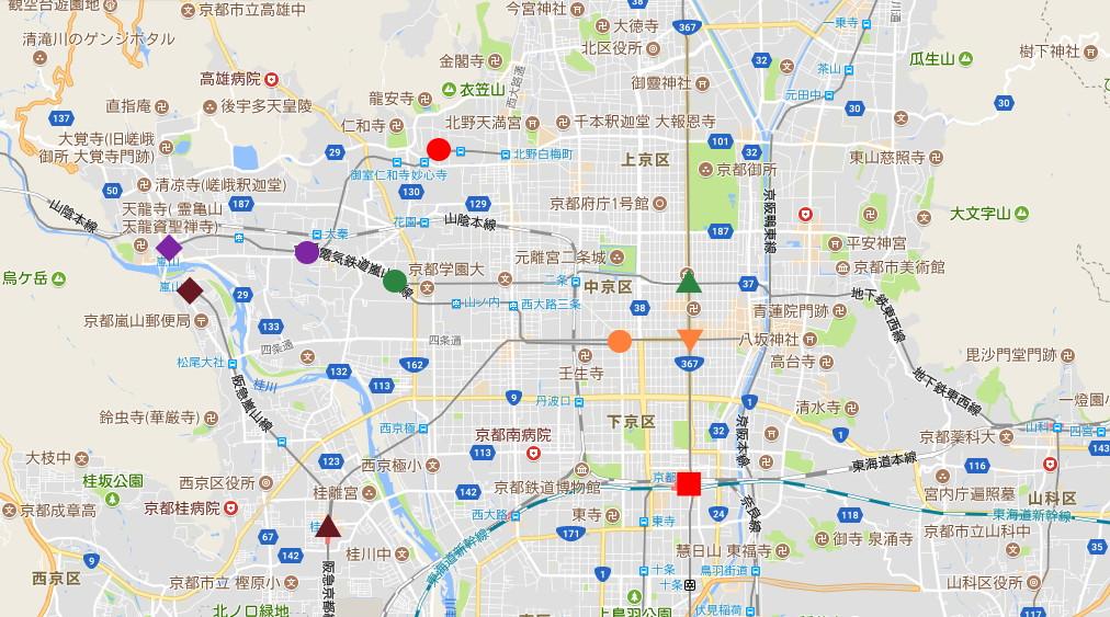 京都・嵐電に乗って龍安寺2017-2004