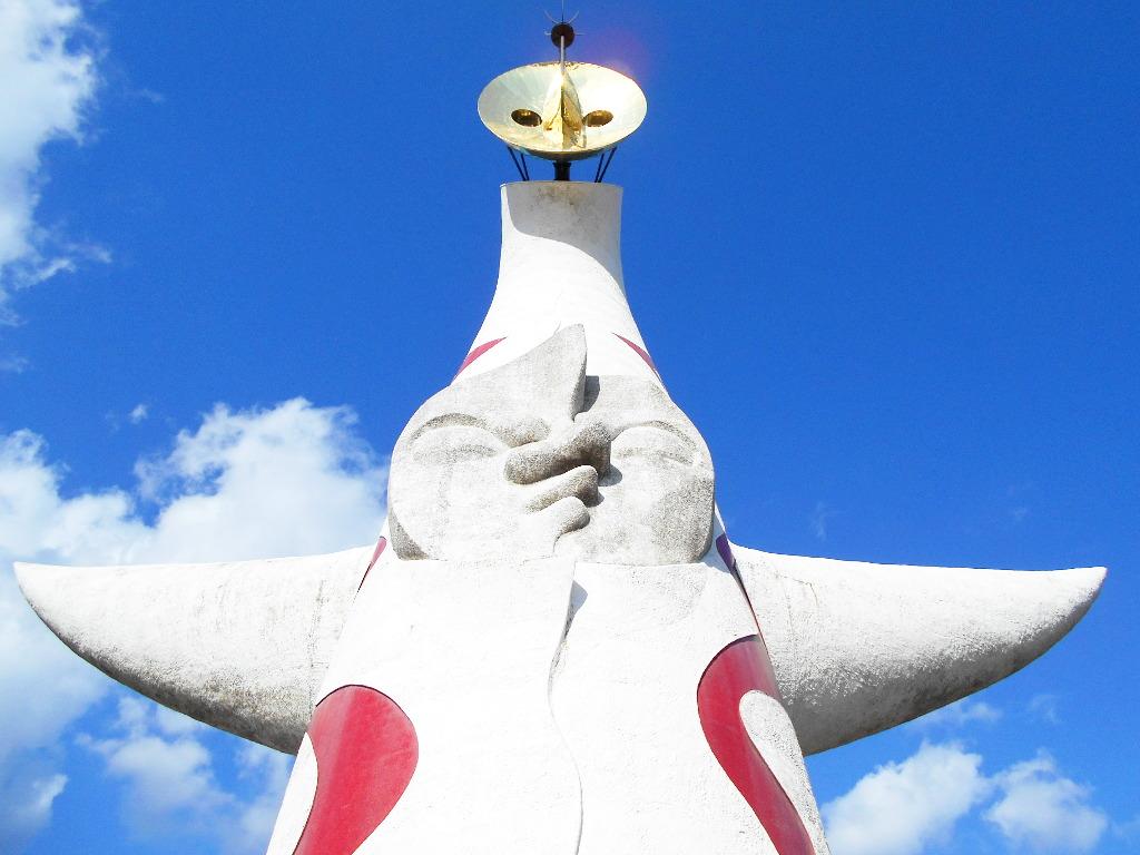 大阪・万博記念公園の太陽の塔2014冬-8005