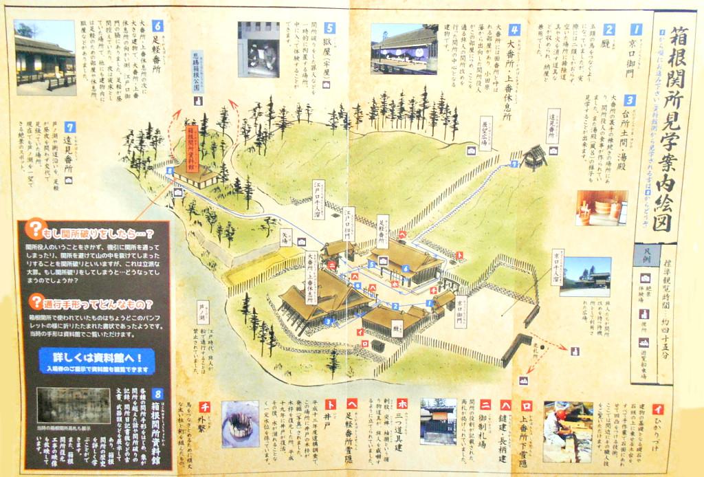 箱根・芦ノ湖ドライブ2016秋その3・箱根関所-4302