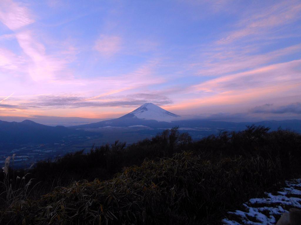 箱根・芦ノ湖ドライブ2016秋その5・夕暮れの富士山-4506