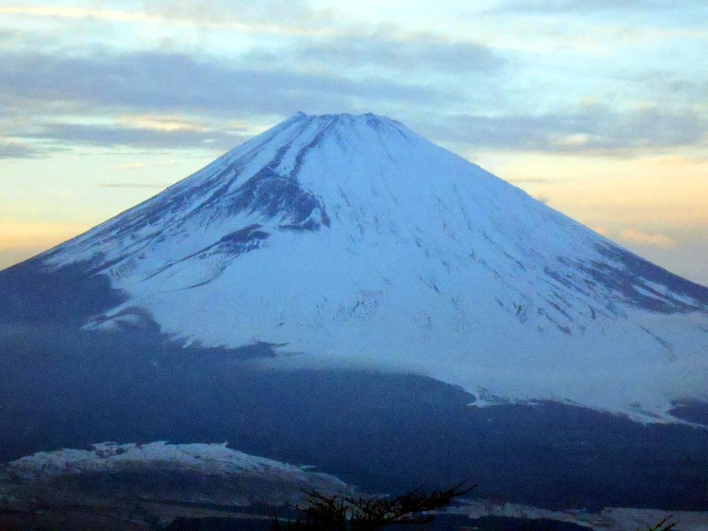 箱根・芦ノ湖ドライブ2016秋その5・夕暮れの富士山-4507