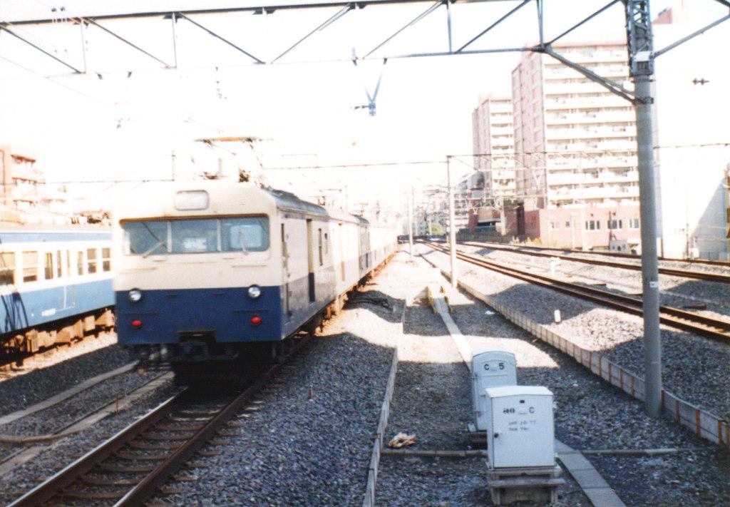 国鉄・総武本線クモユニ74と103系1980年代-1001