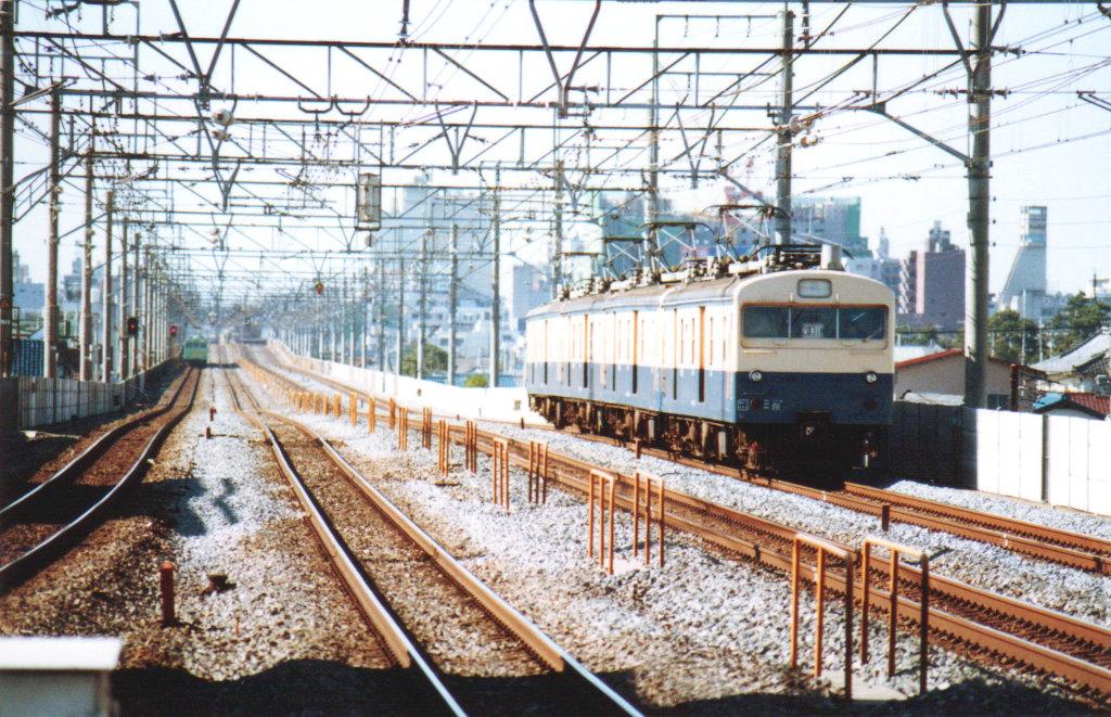 国鉄・総武本線クモユニ74と103系1980年代-1003