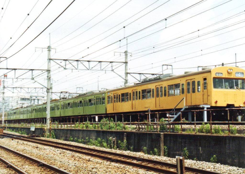 国鉄・総武本線クモユニ74と103系1980年代-1004