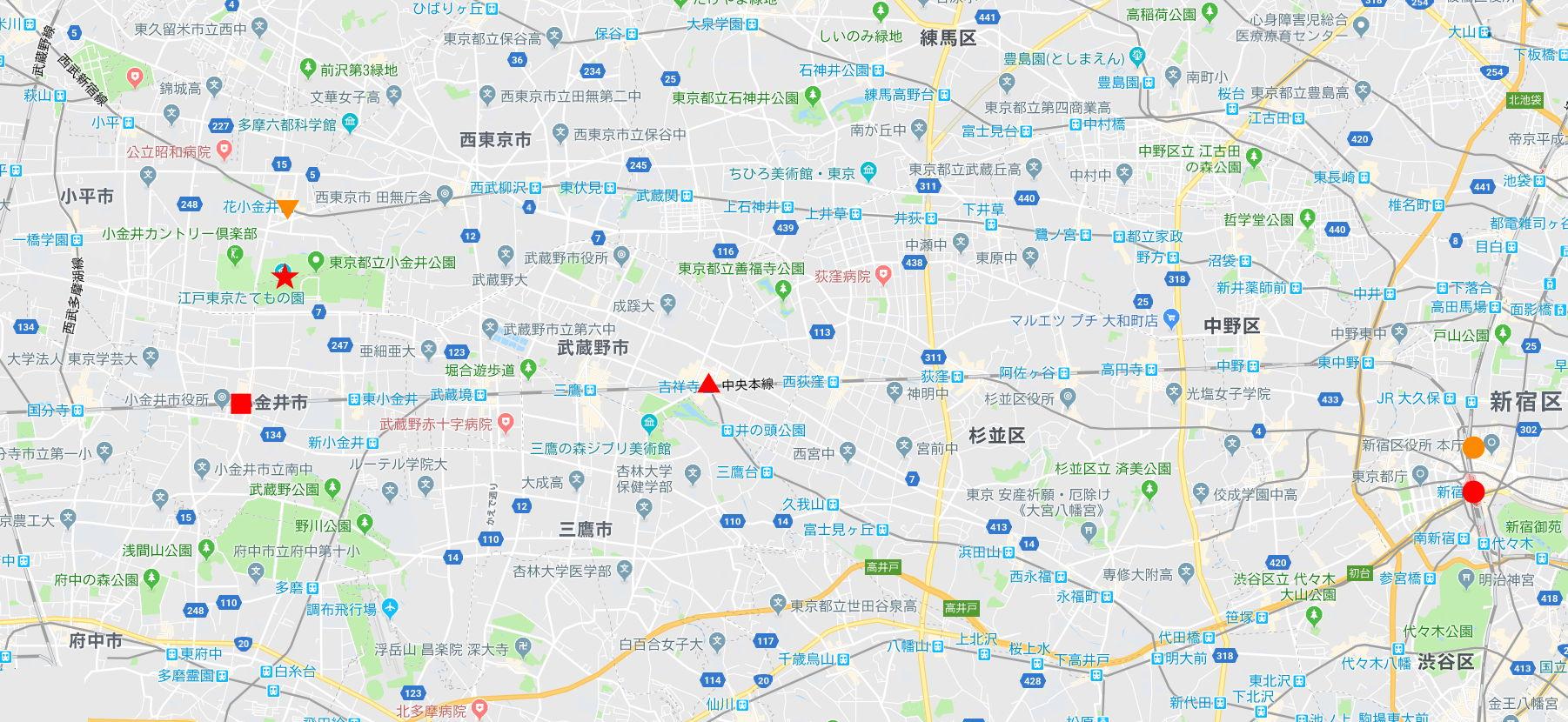 東京・小金井公園・森の中の東京都電7514号2005-7502