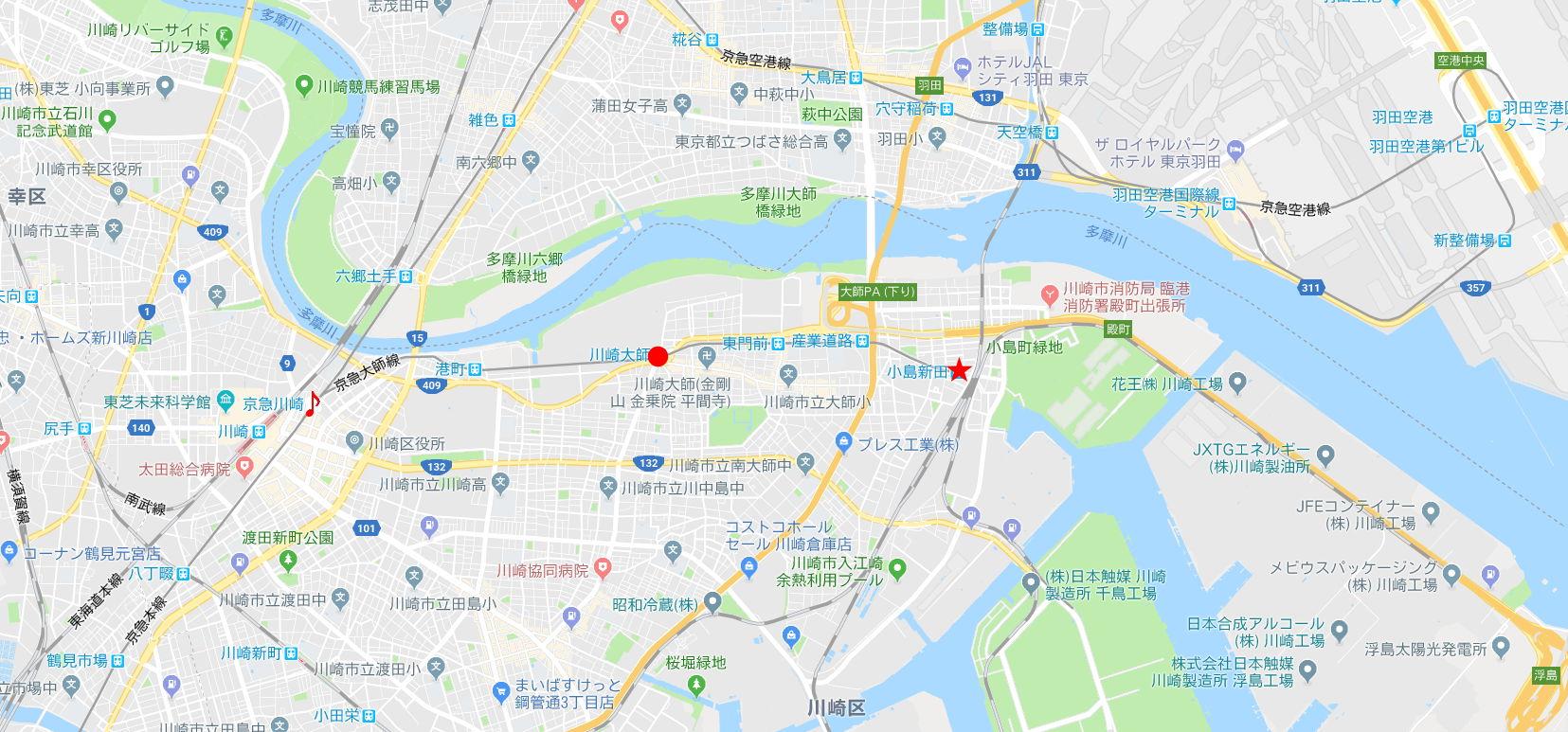 京浜急行大師線を歩く。その1・小島新田駅と川崎貨物駅2018夏-1101