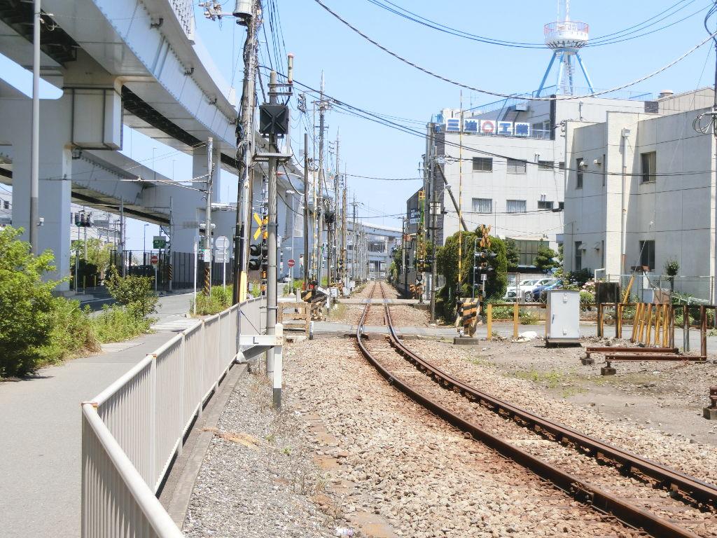 京浜急行大師線を歩く。その1・小島新田駅と川崎貨物駅2018夏-1130