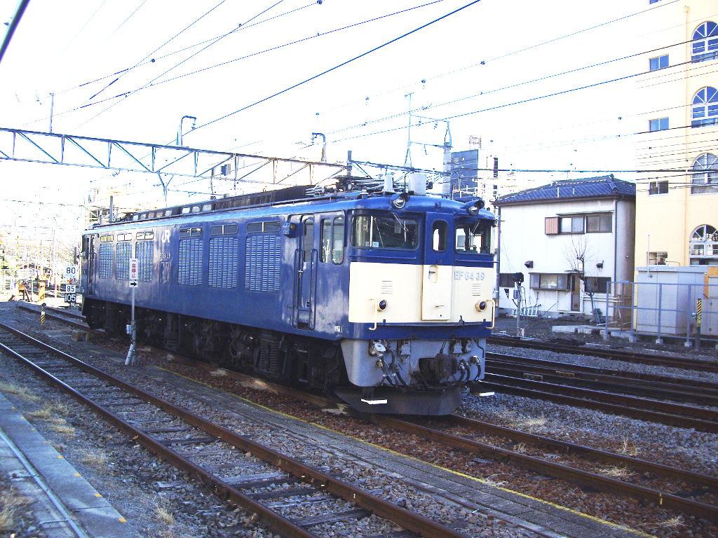 山梨・お城とEF64形機関車・甲府駅2014新春-1106