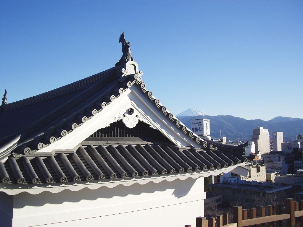 山梨・お城とEF64形機関車・甲府駅2014新春-1115