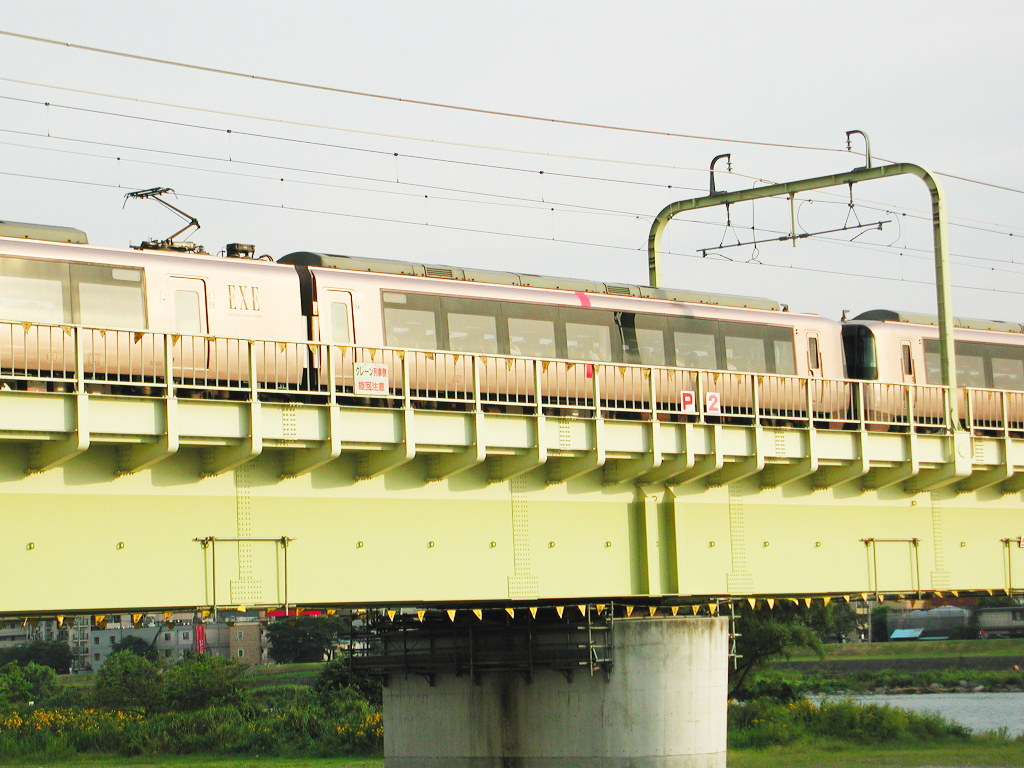 小田急線・和泉多摩川の鉄橋2005-1004