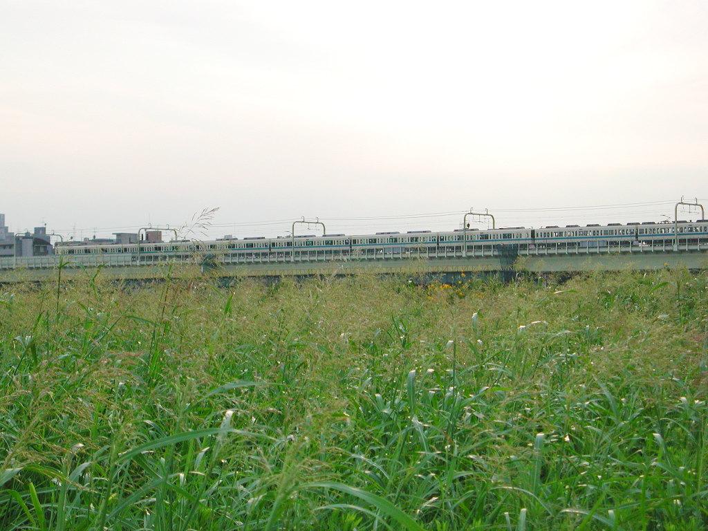 小田急線・和泉多摩川の鉄橋2005-1015
