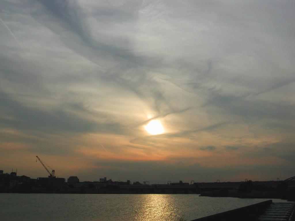 小田急線・和泉多摩川の鉄橋2005-1016