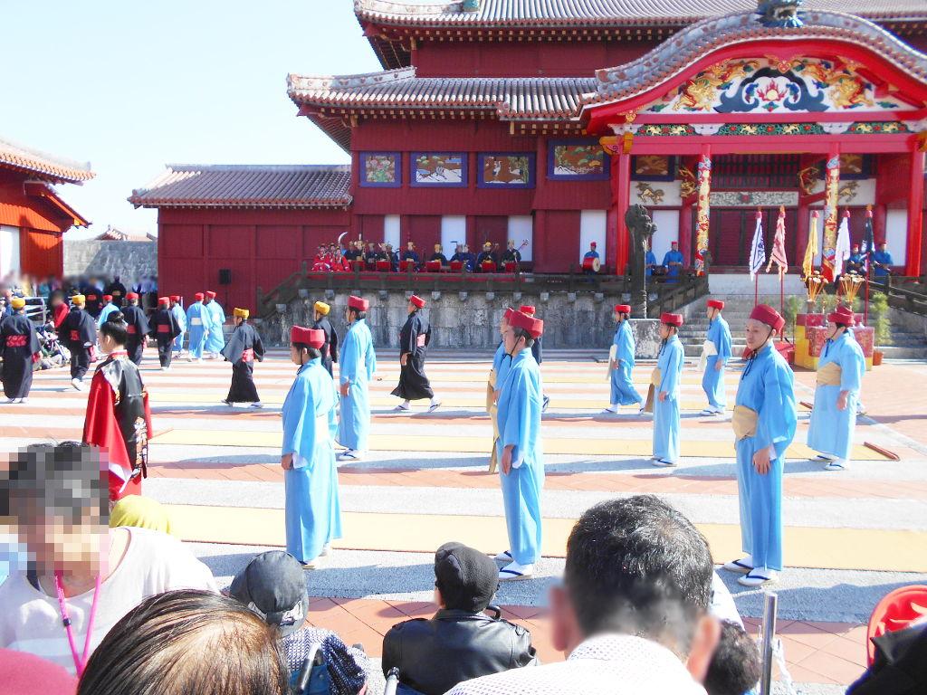 沖縄・那覇で年越し2018その4・首里城の正月儀式-1414