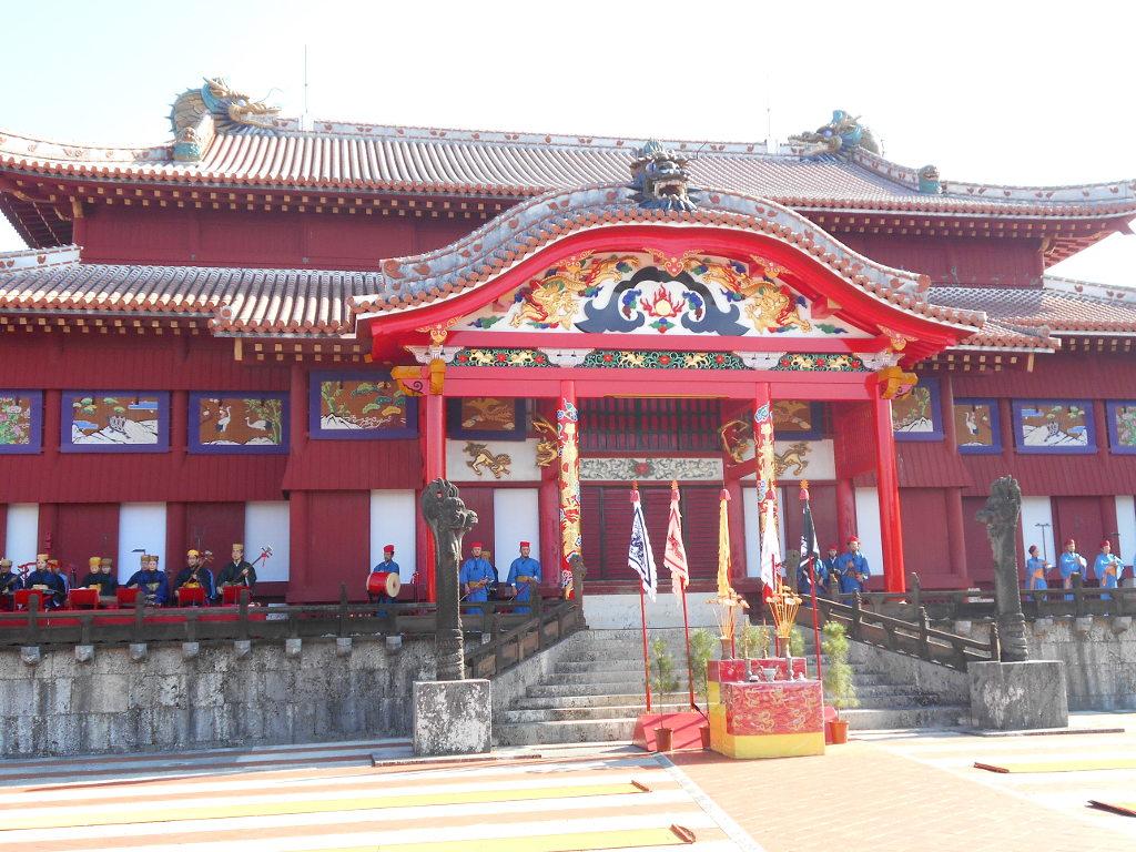 沖縄・那覇で年越し2018その4・首里城の正月儀式-1415