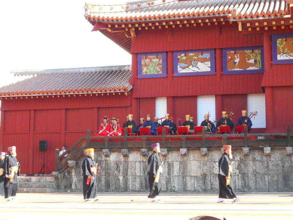 沖縄・那覇で年越し2018その4・首里城の正月儀式-1419
