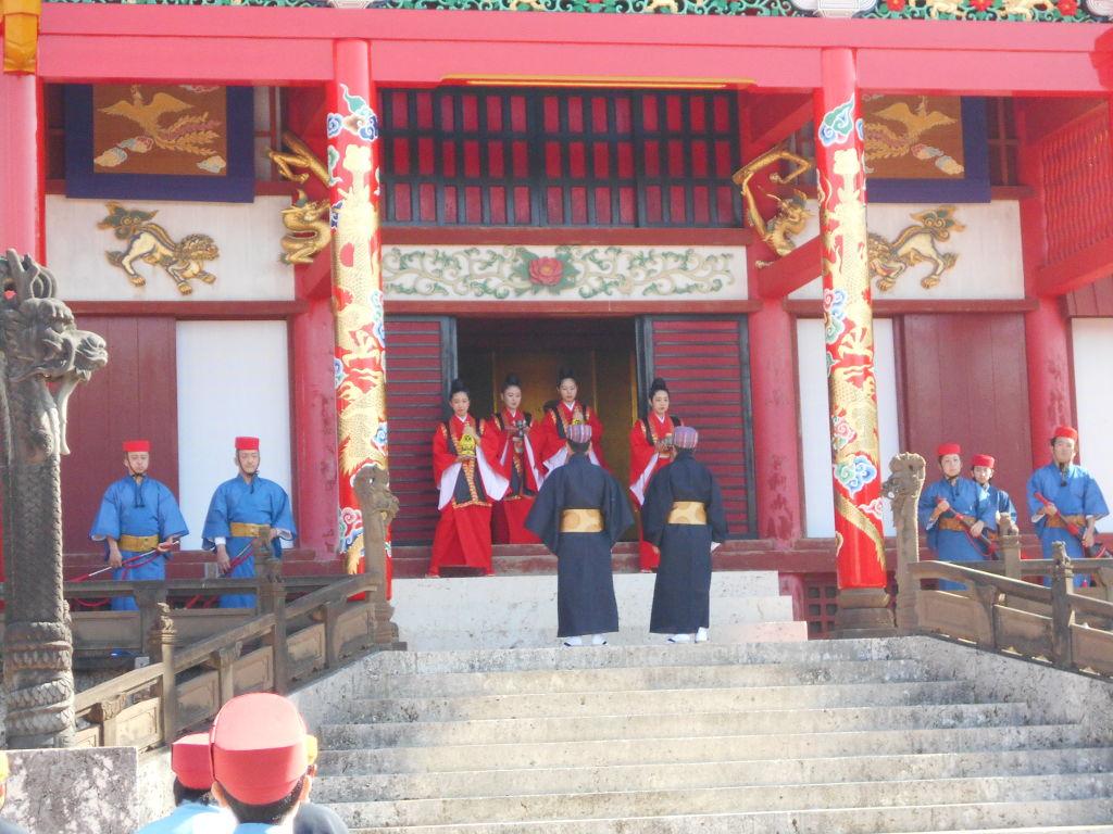 沖縄・那覇で年越し2018その4・首里城の正月儀式-1425