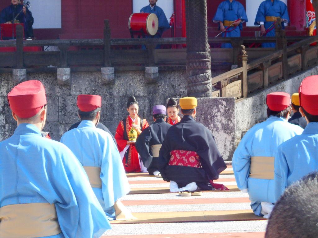 沖縄・那覇で年越し2018その4・首里城の正月儀式-1428