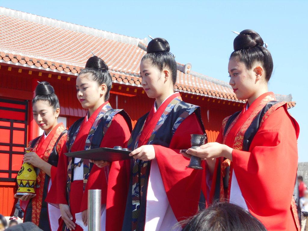 沖縄・那覇で年越し2018その4・首里城の正月儀式-1431