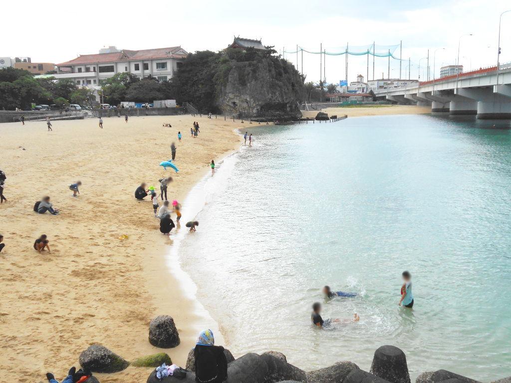 沖縄・那覇で年越し2018その14・波の上ビーチでオリオンビール-2419
