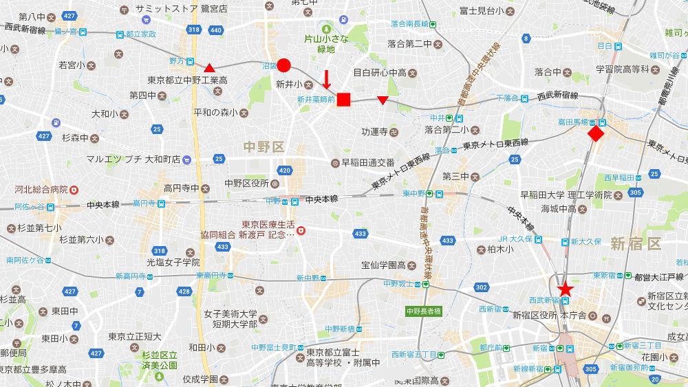 西武新宿線新井薬師前駅2018春-8101