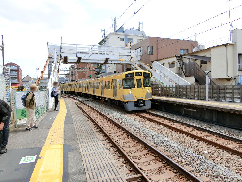 西武新宿線新井薬師前駅2018春-8114