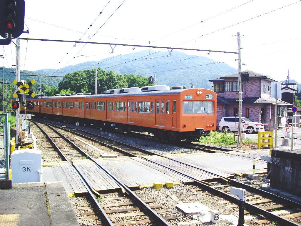 秩父鉄道の幼馴染み・1000系オレンジ色2012夏-9501