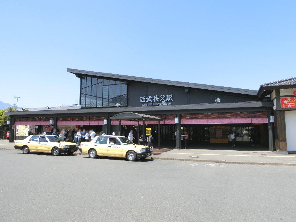 秩父鉄道の貨車「ヲキ」を楽しむ・その1西武秩父駅2018春-9103