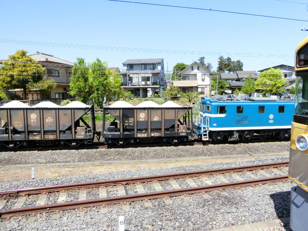 秩父鉄道の貨車「ヲキ」を楽しむ・その1西武秩父駅2018春-9118