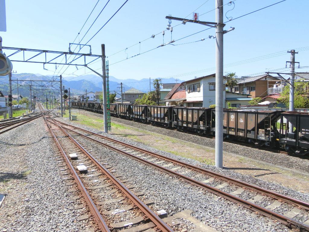 秩父鉄道の貨車「ヲキ」を楽しむ・その1西武秩父駅2018春-9126