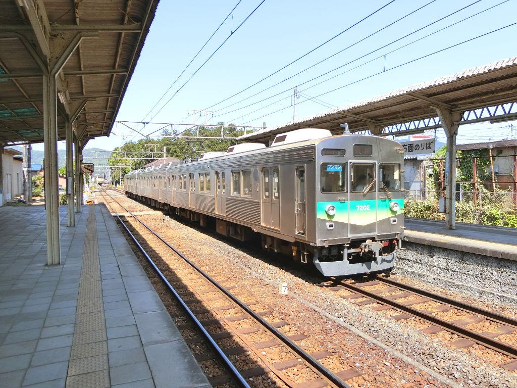 秩父鉄道の貨車「ヲキ」を楽しむ・その5上長瀞駅と荒川橋梁2018春-9509