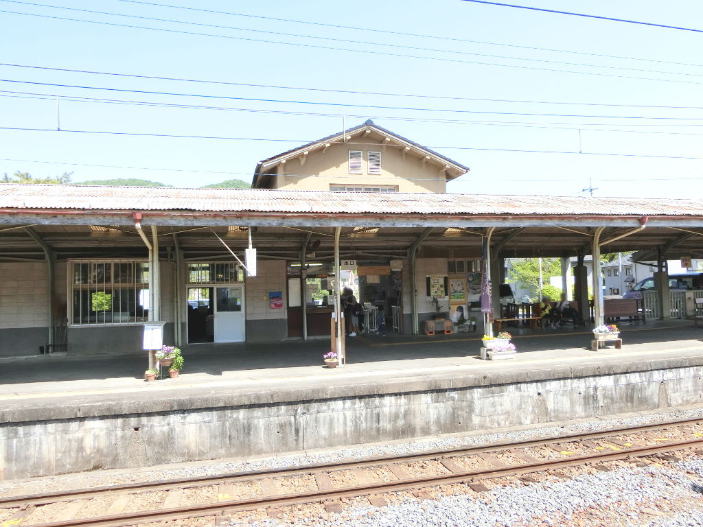 秩父鉄道の貨車「ヲキ」を楽しむ・その5上長瀞駅と荒川橋梁2018春-9513