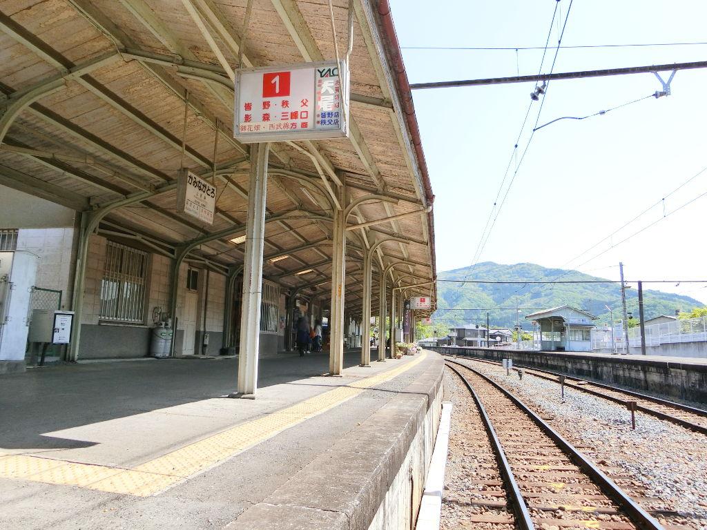 秩父鉄道の貨車「ヲキ」を楽しむ・その5上長瀞駅と荒川橋梁2018春-9514