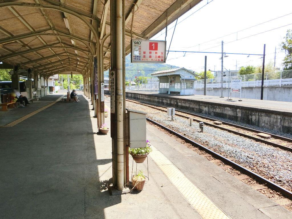 秩父鉄道の貨車「ヲキ」を楽しむ・その5上長瀞駅と荒川橋梁2018春-9516