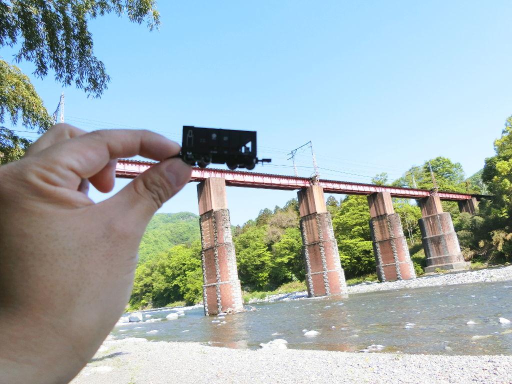 秩父鉄道の貨車「ヲキ」を楽しむ・その5上長瀞駅と荒川橋梁2018春-9531