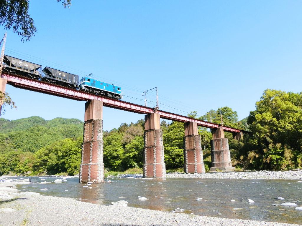 秩父鉄道の貨車「ヲキ」を楽しむ・その5上長瀞駅と荒川橋梁2018春-9532