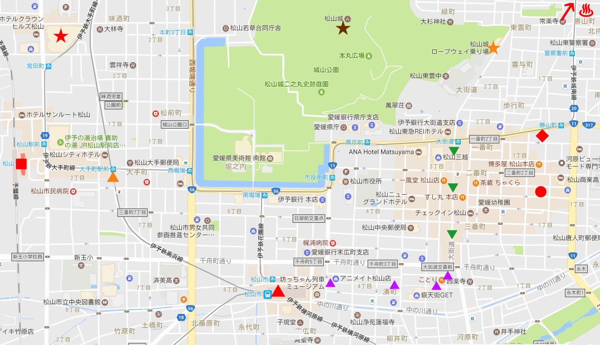 行くぞ!松山2016冬その16・城から市駅へ-8602