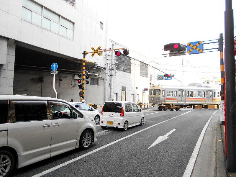 行くぞ!松山2016冬その17・市駅から松山駅へ(大手町駅の平面交差)-8704