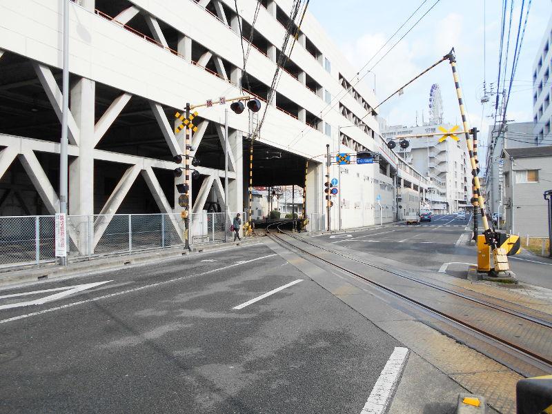 行くぞ!松山2016冬その17・市駅から松山駅へ(大手町駅の平面交差)-8708