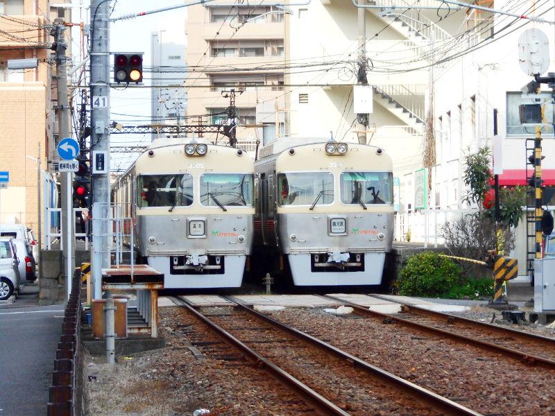 行くぞ!松山2016冬その17・市駅から松山駅へ(大手町駅の平面交差)-8724